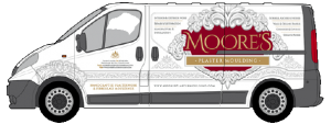 Illustration of Moore's Plaster Moulding Van